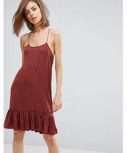 Moss Copenhagen   Платье С Оборкой По Краю
