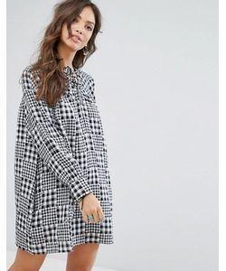 Glamorous | Свободное Платье В Клеточку