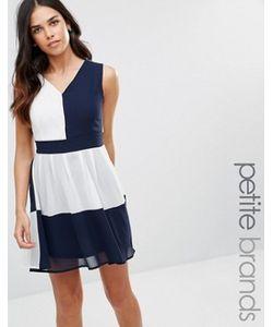 Yumi Petite | Платье В Стиле Колор Блок С Завязкой Сзади