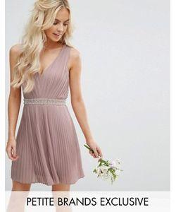 TFNC Petite | Приталенное Платье Мини Для Выпускного С Отделкой И Открытой Спинкой Tfnc