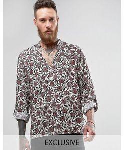 Reclaimed Vintage   Рубашка Через Голову Классического Кроя