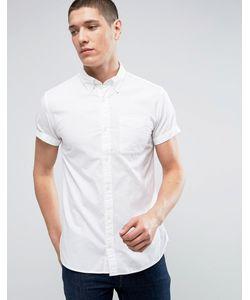 Jack & Jones | Приталенная Оксфордская Рубашка С Короткими Рукавами Premium