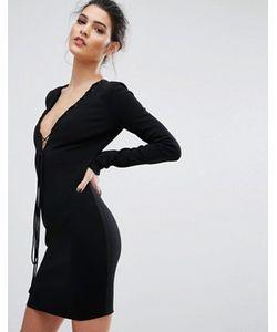 BEC&BRIDGE | Платье С Длинными Рукавами И Глубоким Вырезом Bec Bridge Warriors