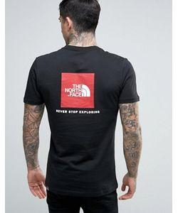 The North Face | Черная Футболка С Логотипом Сзади Box