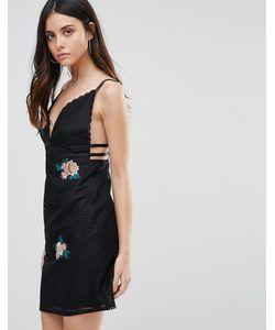 Liquorish | Платье На Бретелях С Цветочной Вышивкой