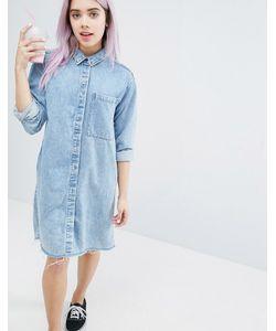 Monki | Платье-Рубашка С Эффектом Кислотной Стирки