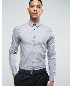 New Look | Серая Рубашка Классического Кроя Из Поплина