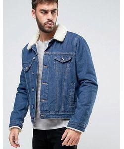 Asos | Выбеленная Джинсовая Куртка С Воротником-Борг