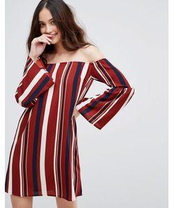 AX Paris | Платье В Полоску С Открытыми Плечами
