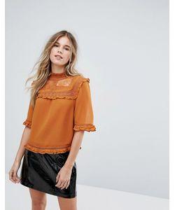 New Look   Блузка С Кружевной Кокеткой