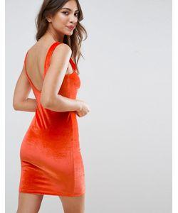 Asos | Бархатное Облегающее Платье Мини