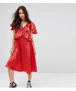 Reclaimed Vintage   Платье Миди С Кейпом Inspired