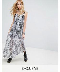 Reclaimed Vintage | Прозрачное Платье Макси С Леопардовым Принтом И Люверсами Inspired