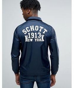 Schott | Темно-Синяя Куртка С Логотипом На Спине