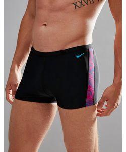 Nike | Черные Плавки С Принтом Ness7115-673