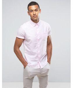 Burton Menswear | Оксфордская Приталенная Рубашка С Короткими Рукавами