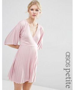 ASOS PETITE | Плиссированное Платье Мини С Рукавами-Кимоно Exclusive