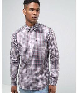 Jack Wills | Фланелевая Рубашка В Клетку Классического Кроя