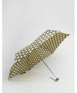 Totes | Зонт В Горошек Горчичного Цвета