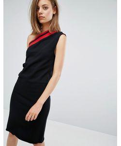 Cheap Monday | Асимметричное Платье В Полоску