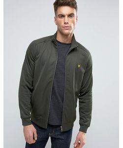 Lyle&Scott | Зеленая Куртка С Высоким Воротником И Логотипом Lyle Scott