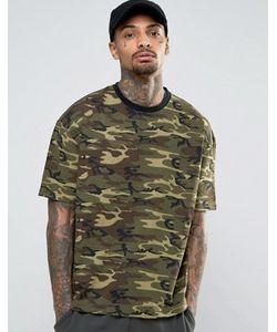 Kubban   Oversized Camo T-Shirt