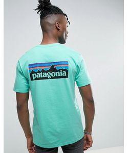 Patagonia | Зеленая Футболка Классического Кроя С Логотипом На Спине P-6
