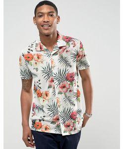 LDN DNM | Рубашка С Короткими Рукавами Отложным Воротником И Принтом