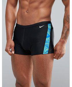 Nike | Черные Плавки С Принтом Ness7115-356