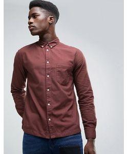 Waven | Бордовая Оксфордская Рубашка