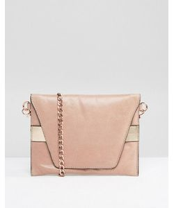 URBANCODE | Real Leather Cross Body Bag With Rose Band