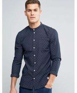 Minimum | Темно-Синяя Облегающая Рубашка В Стиле Ретро В Полоску Justo