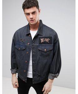 Asos | Выбеленная Свободная Джинсовая Куртка С Нашивками