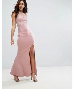 Lipsy | Платье Макси С Кружевной Отделкой И Пайетками Michelle Keegan Loves