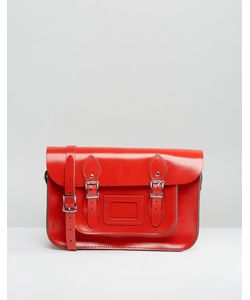 Leather Satchel Company | 12.5 Inch Satchel In Patent Rosy
