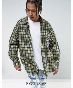 Reclaimed Vintage | Свободная Фланелевая Рубашка В Желтую Клетку Inspired