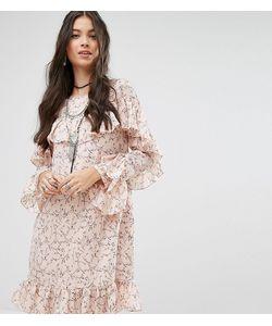Glamorous Petite | Платье С Оборками И Цветочным Принтом