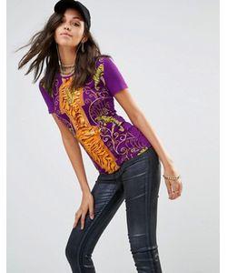 Versace | Футболка С Логотипом V С Тигром Jeans
