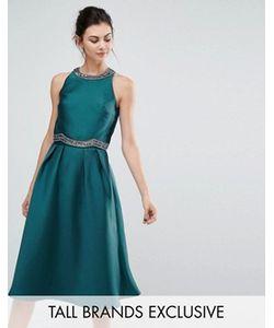 Little Mistress Tall | Короткое Приталенное Платье 2-В-1 С Декоративной Отделкой