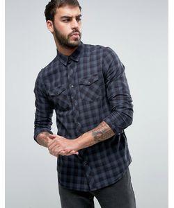 New Look | Черная Клетчатая Рубашка Классического Кроя В Стиле Вестерн