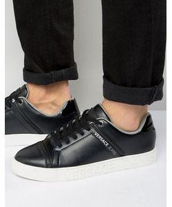 Versace | Черные Кроссовки С Молниями Jeans