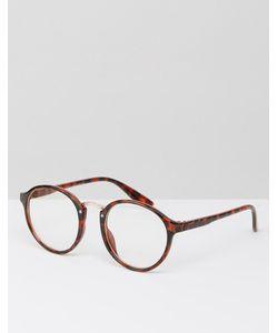 7X | Круглые Солнцезащитные Очки С Прозрачными Стеклами
