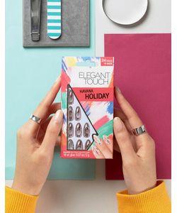 ELEGANT TOUCH | Накладные Ногти Заостренной Формы С Эффектом Металлик Holiday Collection