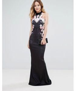 Jessica Wright | Платье Макси С Цветочным Принтом И Подолом-Годе