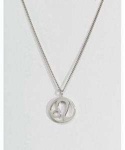 Fashionology   Серебряное Ожерелье Со Знаком Зодиака Лев