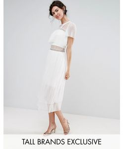 True Decadence Tall | Платье Миди С Оборками И Металлическими Колечками