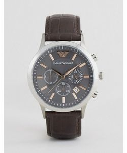 Emporio Armani | Коричневые Часы С Кожаным Ремешком И Хронографом Ar2513