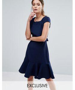 Closet London | Платье Миди С Короткими Рукавами