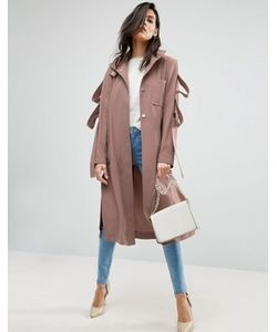 Asos | Легкое Пальто С Петлями На Рукавах