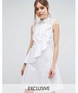 Closet London | Платье-Рубашка С Рюшами Closet
